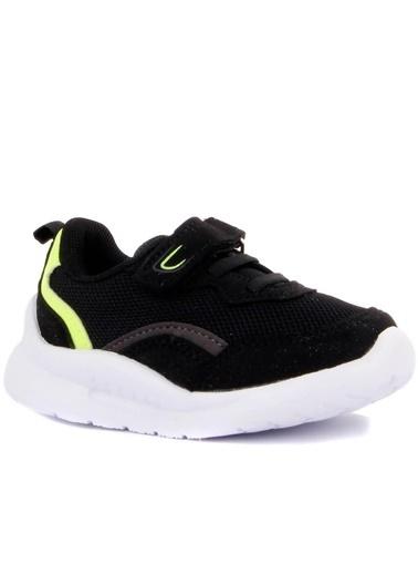Cool 20-S29 Siyah Erkek Çocuk Bebe Fileli Günlük Spor Ayakkabı Siyah